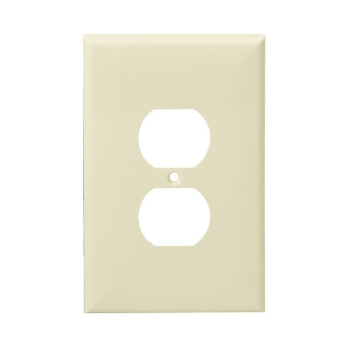 Almond 1-Gang Over-Size Duplex Receptacle Plastic Wall Plates