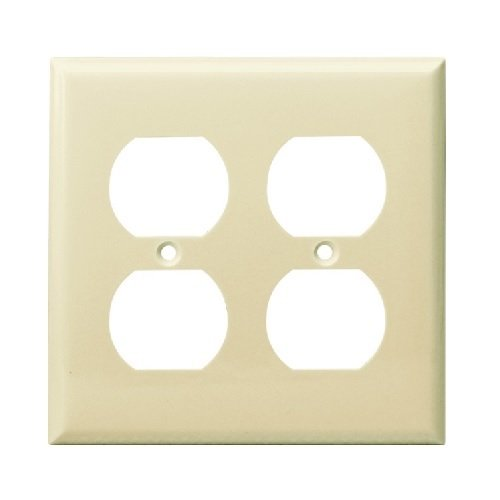 Almond 2-Gang Duplex Receptacle Plastic Wall Plates