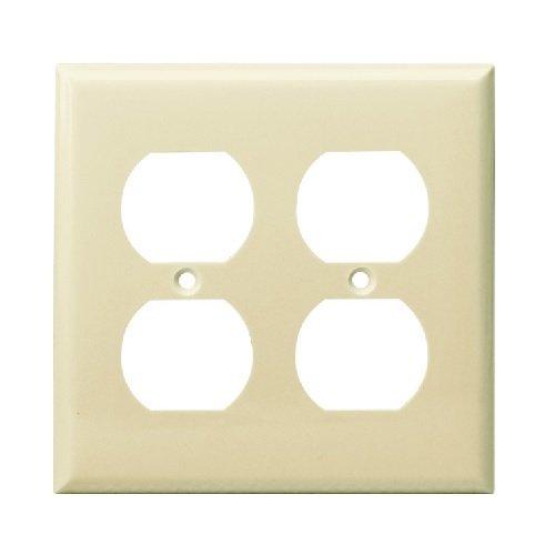 Almond 2-Gang Duplex Receptacle Plastic Wall Plates