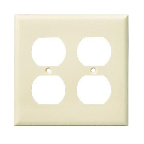 Light Almond 2-Gang Duplex Receptacle Plastic Wall Plates  sc 1 st  HomElectrical.com & Enerlites Light Almond 2-Gang Duplex Receptacle Plastic Wall Plates ...