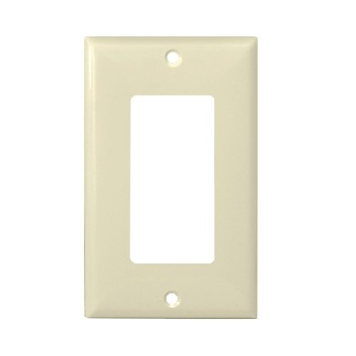 Almond Colored 1-Gang Decorator/GFCI Plastic Wall plates