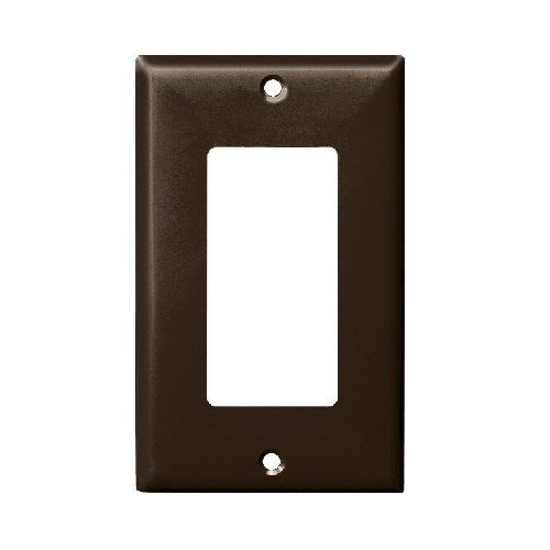 Brown 1-Gang Mid-Size Decorator/GFCI Plastic Wall plates