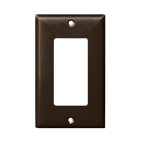 Brown 1-Gang Over-Size Decorator/GFCI Plastic Wall plates