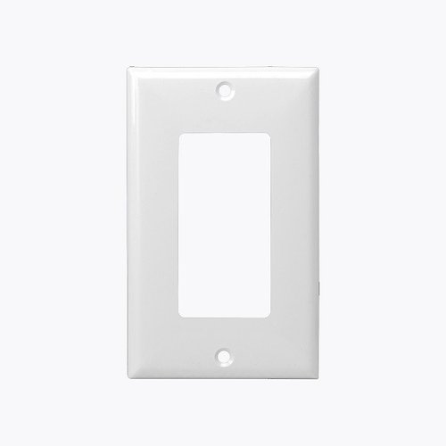 White 1-Gang Over-Size Decorator/GFCI Plastic Wall plates