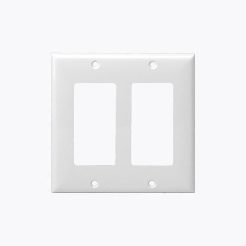 Brown Colored 2-Gang Decorator/GFCI Plastic Wall plates