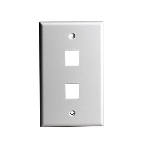 Enerlites White Colored 1 Gang 2 Port Multimedia Face Plates