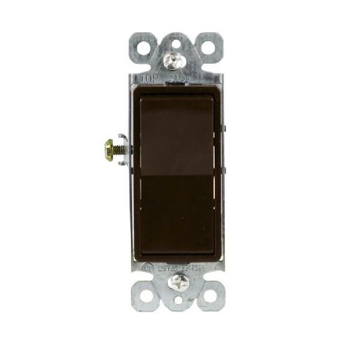 Brown Residential Grade AC Quiet Single Pole 15A Decorator Switch