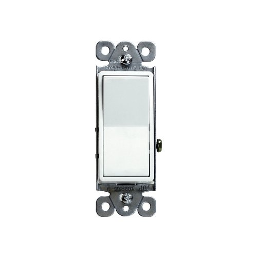 White Residential Grade AC Quiet Single Pole 15A Decorator Switch