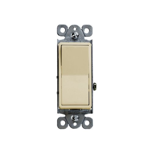 Ivory Residential Grade Push-In and Side Wired 15A Three-Way Paddle Switch