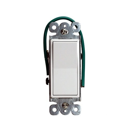 White Residential Grade AC Quiet Decorator Four-Way Paddle Switch
