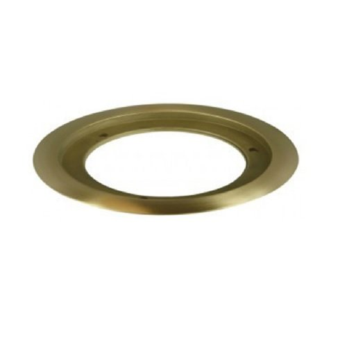 """Brass 5.25"""" Dia Round Metal Flange Receptacle Plate"""