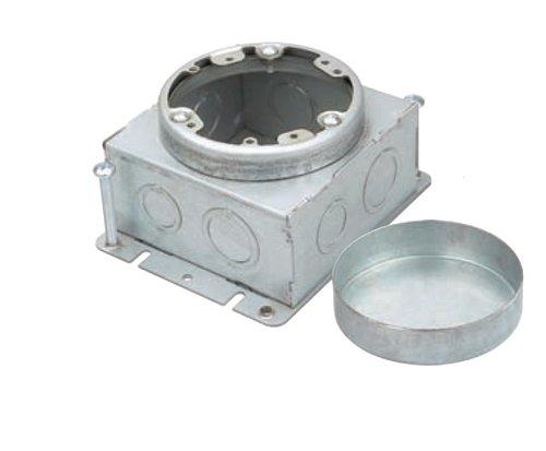 """Pre-Galvanized Steel Commercial Square Box Round Cover w/ 11/16"""" Cover"""