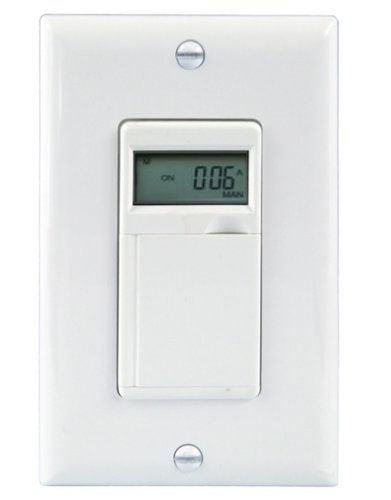 White 7-Day Digital In-Wall Programmable Timer Switch