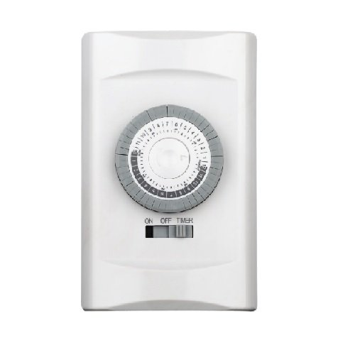 White Single Pole 24 Hours Mechanical In-Wall Timer