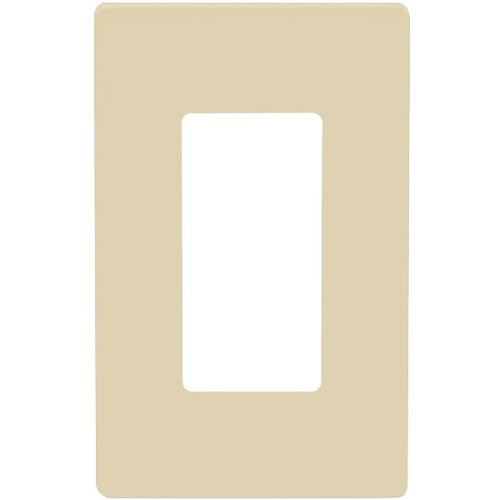 Ivory 1-Gang Standard Size Decorator Screw less Wall plates