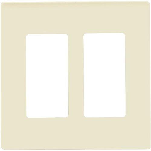 Light Almond 2-Gang Standard Size Decorator Screw less Wall plates