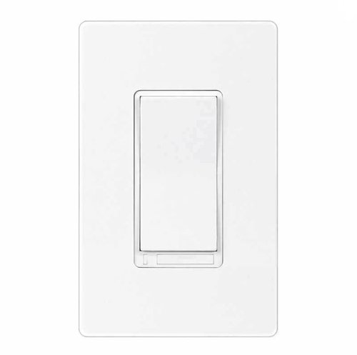 Z-Wave White Wireless 3-Way Auxiliary Switch w/ LED Locators