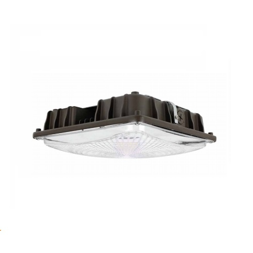 40W LED Canopy Light Fixture, 175W MH Retrofit, 120-277V, 5450 lm, 5000K