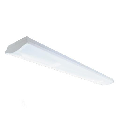 30W 4-ft LED Utility Wrap Light Fixture, 0-10V Dimming, 3330 lm, 3500K