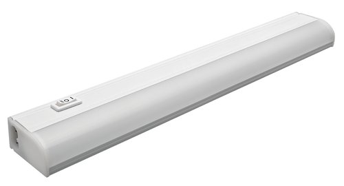 8W 18 Inch Plug-In, Linkable LED Under Cabinet Fixture, 3000K