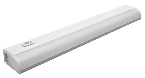 6W 12 Inch Plug-In, Linkable LED Under Cabinet Fixture, 3000K