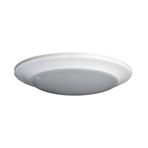 40W 24 Inch Flat Round LED Flushmount Ceiling Fixture, Dimmable, 4000K
