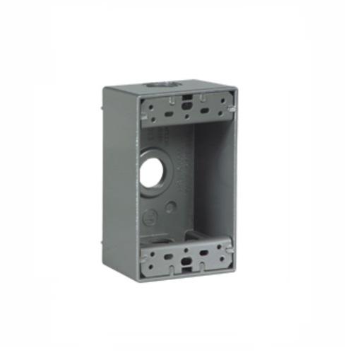 1-Gang FS Electrical Box, Weatherproof, Cast Aluminum