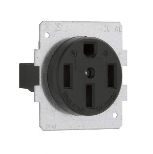 Eaton Wiring 50 Amp Power Receptacle Nema 14 50r 3 Pole 4 Wire Black Eaton Wiring 1258 Bu3 Homelectrical Com