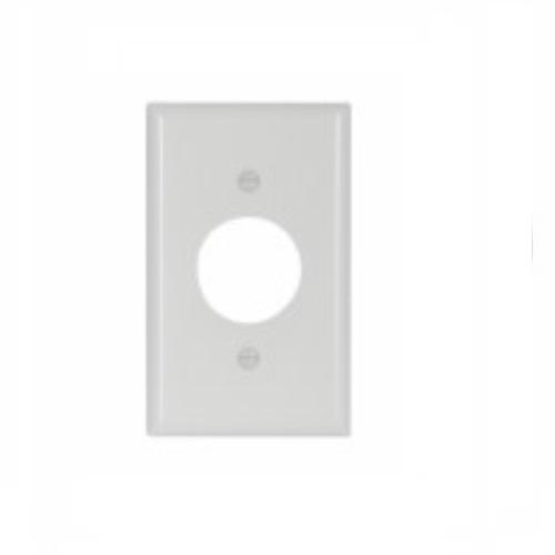 Standard Size Single Receptacle Thermoset Wallplate, White