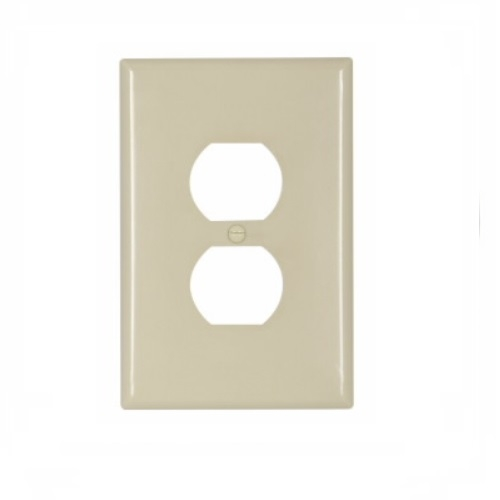 25 Eaton Ivory 1-Gang Duplex Receptacle Thermoset Mid-Size Wallplate Covers