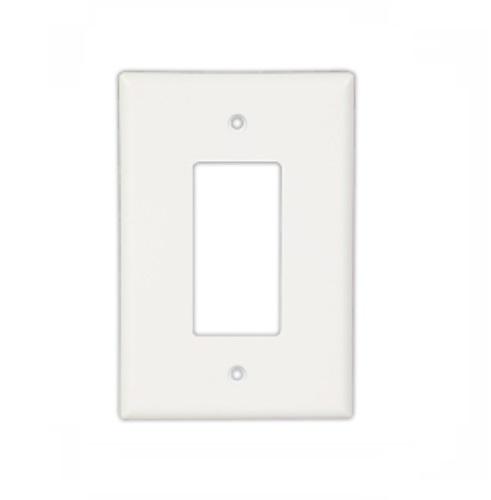 Eaton Wiring 1-Gang Decora Wall Plate, Oversize, White