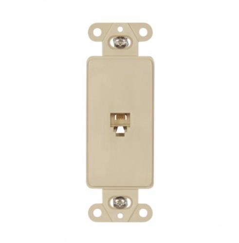 eaton 4 conductor phone jack insert, rj14, ivory RJ 11 Telephone Jack Wiring