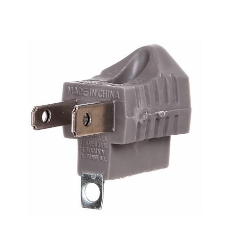 15 Amp Grounding Adapter, Box of 100, Grey