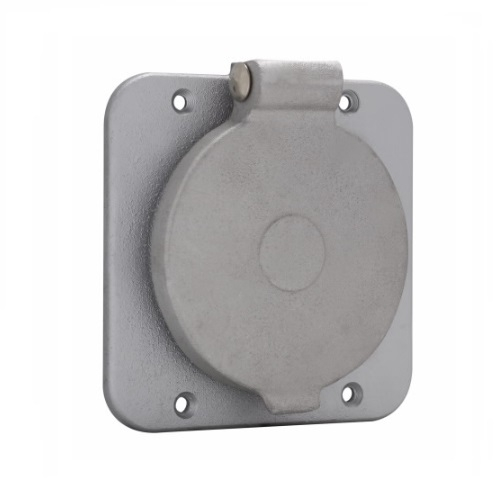 Eaton 30/ 50/ 60 Amp Receptacle Cover, Weatherproof, Grey on