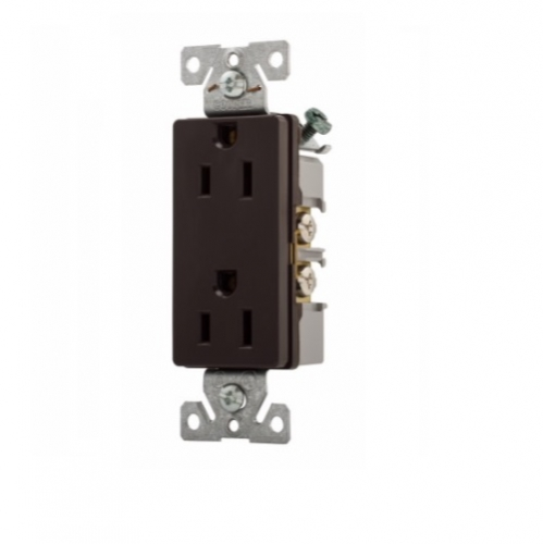 EATON Wiring TRBR15BKBXSP 15-Amp 3-Wire 125-Volt Tamper Resistant Commercial Grade Duplex Receptacle 2-Pole Black