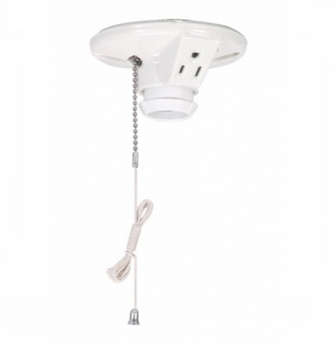 Terrific Eaton 660W Pull Chain Switch Porcelain Ceiling Lampholder 125V Wiring 101 Akebretraxxcnl