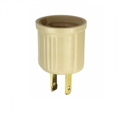 660W Outlet Adapter, Polarized, NEMA 1-15R, Ivory