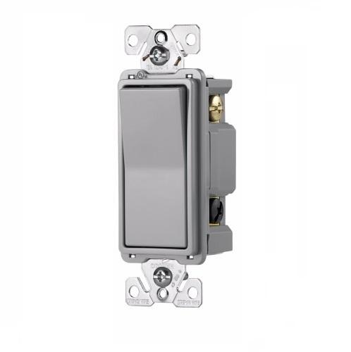 NEW Decorator 3-Way Switches 15A GRAY Grey Three Way Decora Style Switch 10 pc