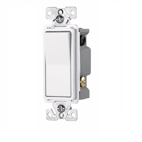 eaton wiring 7604v  15 amp 4-way rocker switch, commercial grade, ivory