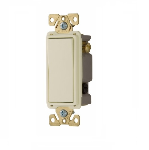 Eaton 20 Amp 4-Way Lighted Rocker Switch, Light Almond on wiring a power switch, wiring a toggle switch, wiring a switch up, basic wiring light switch, wiring a illuminated rocker switch, home wiring light switch,