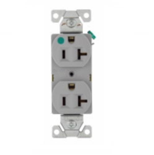 [DHAV_9290]  Eaton Wiring 20 Amp Hospital Grade Duplex Receptacle, NEMA 6-20R, Gray  (Eaton Wiring 8300GY)   HomElectrical.com   20r Receptacle Wiring Diagram For A 6      HomElectrical.com
