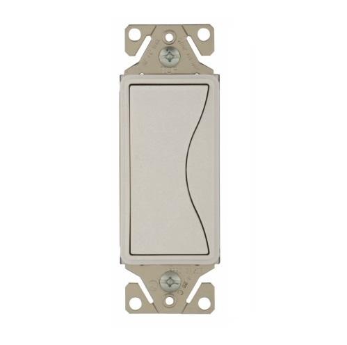 Eaton 15 Amp Designer Light Switch, 3-Way, Alpine White on 3-way electrical switch, wire 3-way switch power at switch, wiring 2 switches to 1 light, common wire on light switch, wiring 3-way switch with 1 wire to light, wiring a brake light, traveler wires 3 way switch,