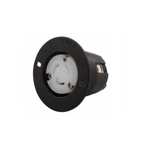 15 Amp Flanged Outlet, NEMA L7-15, 277V, Black/White