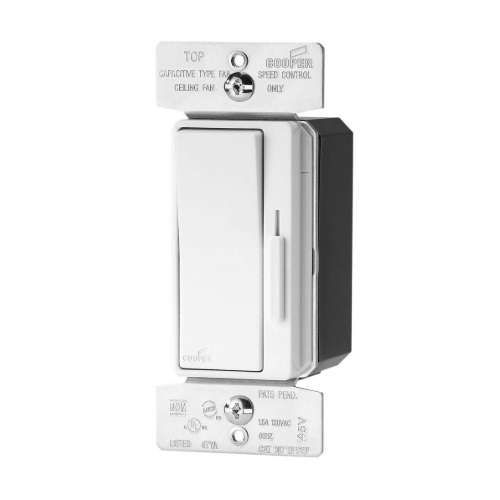 1.5 Amp 3-Speed Fan Control w/Preset, 120V, White