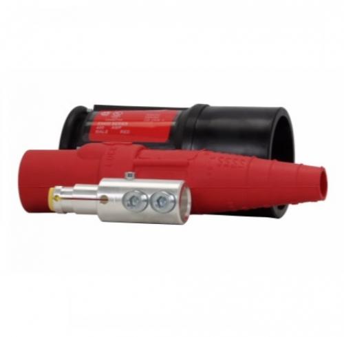 200 Amp Posi-Lok Male Plug, Double Set Screw, 600V, Red