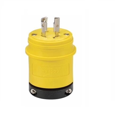 20 amp locking plug, industrial, nema l19-20, 277/480v,