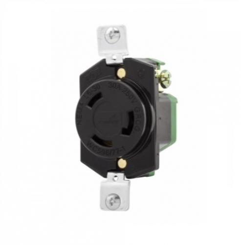 30 Amp Outlet >> Eaton 30 Amp Locking Receptacle Nema L6 30 250v Black