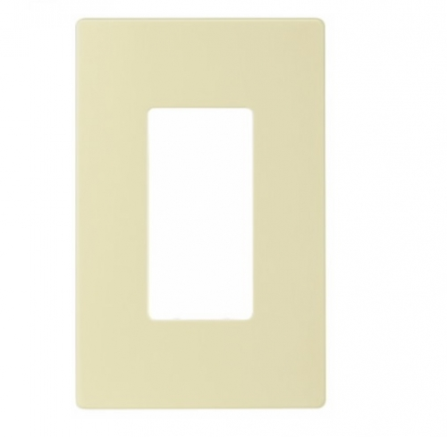 1-Gang Decora Wall Plate, Mid-Size, Screwless, Almond