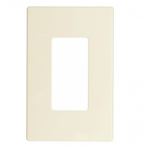 1-Gang Decora Wall Plate, Mid-Size, Screwless, Light Almond