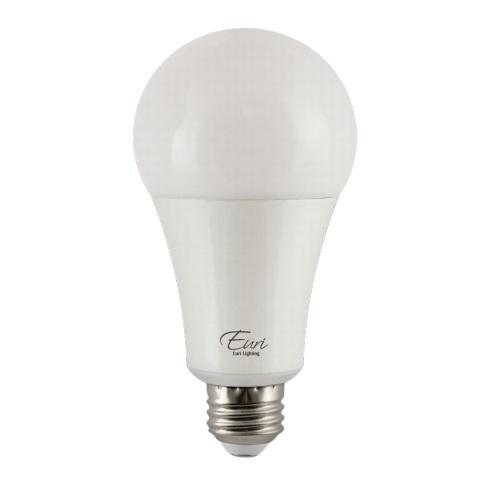 22W LED A21 Bulb, Omni-Directional, 150W Inc. Retrofit, Dim, E26 Base, 2550 lm, 3000K